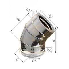 Сэндвич колено 45° ф130/200 мм