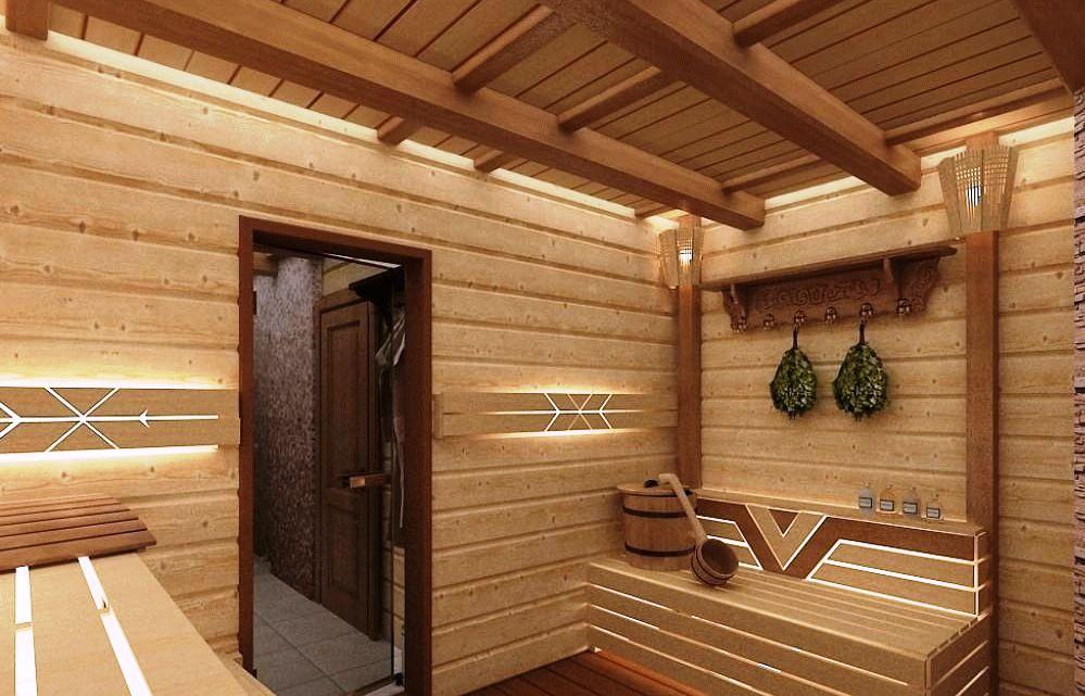 Стены и потолок в бане