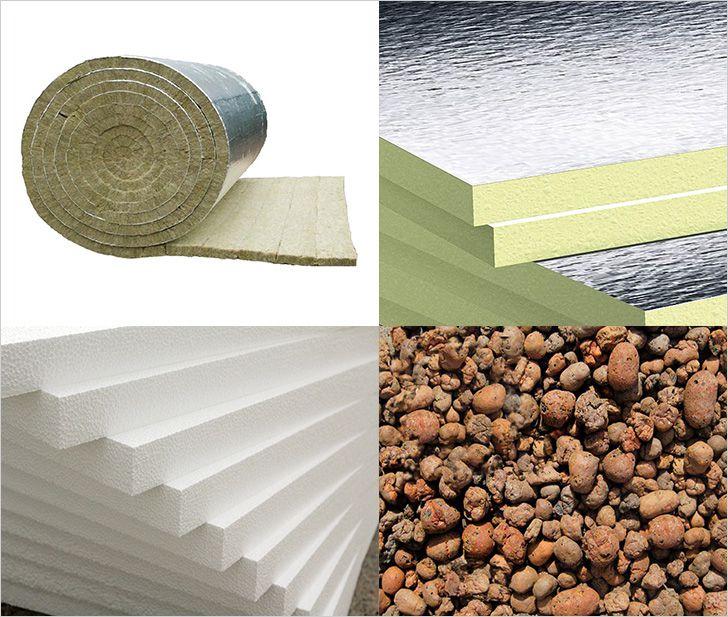 Виды утеплительных материалов